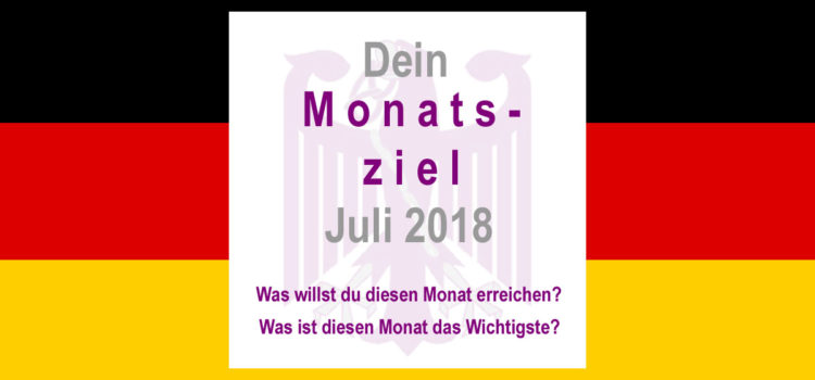 Monatsziel Juli 2018 - magicGerman.de